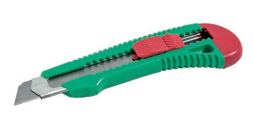 Cuttermesser Kunststoff mit Metallführung mit feststellbarer Klinge