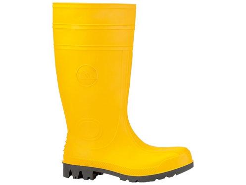 Bau-Sicherheitsstiefel, Gummistiefel, S 5, gelb