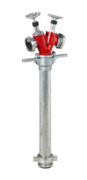 Standrohr DN 80, mit Niederschraubventilen, 2 x C