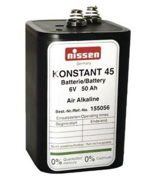 Luft-Sauerstoff Blockbatterie, 6V/50Ah Nissen