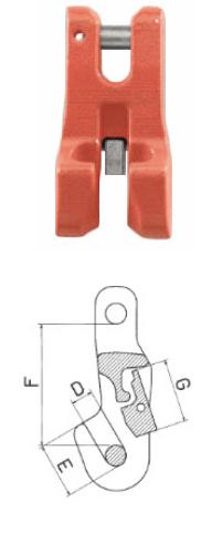 Verkürzungsklaue, mit Sicherungseinrichtung, Güteklasse 10