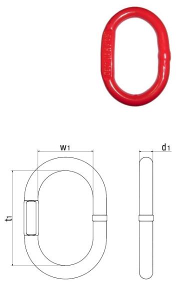 Aufhängeringe für 1 und 2 strängige Kettengehänge, Güteklasse 8