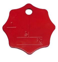 Belastungskennzeichnungsplakette für Einstrang-Anschlagketten