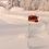 Thumbnail: Schneeleitpfähle, Schneezeichen aus Holz, gestrichen