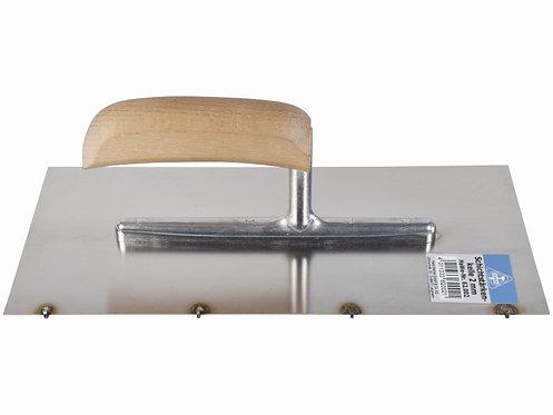 Schichtstärkenkelle, rostfrei mit Holzgriff, 280x130 mm