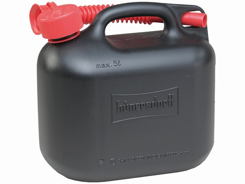 Treibstoffkanister, Benzinkanister, 5 ltr. Kunststoff