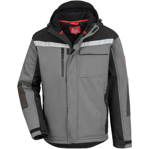 Winter-Softshell-Jacke MOTION TEX PLUS, grau/schwarz