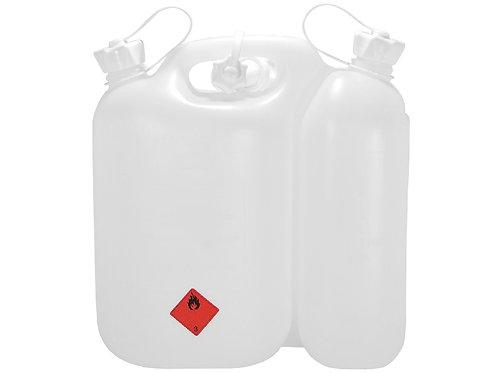 Doppelkanister, aus Kunststoff, 5,5 + 3 ltr., weiß