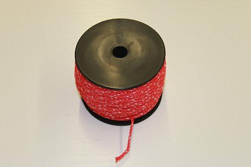 Maurerschnur, Pflastererschnur, 100 Meter 2 mm stark, rot