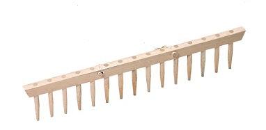 Wiesenrechen, Heurechen, mit 14 Holzzähnen und Eschenstiel 1800 mm