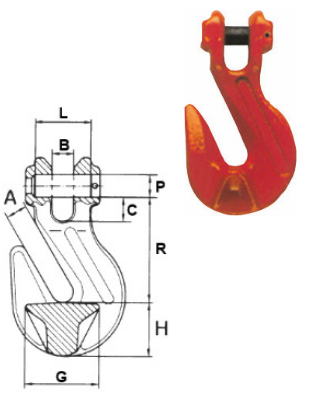 Verkürzungshaken mit Gabelkopf ohne Sicherung, Güteklasse 8