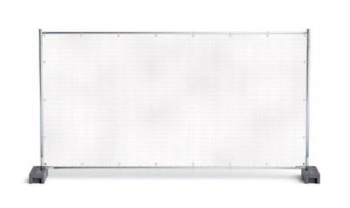 Bauzaunplanen mit Alu-Ösen, Polyester, 1,76 x 3,41 Meter