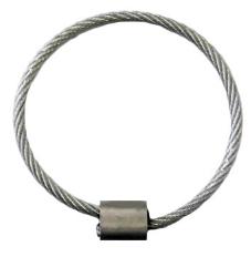 Befestigungs-Stahlseil 3  auf 4 mm Ø  PVC-ummantelt, mit Alu-Hülse