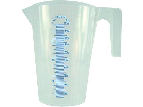 Messbecher, transparent mit Skala, lebensmittelecht, 1 Liter