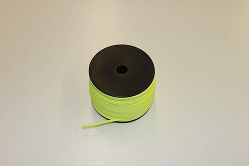 Maurerschnur, Pflastererschnur, 100 Meter 2 mm stark, neongelb