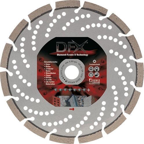 Diamanttrennscheibe DFX, Spezialtrennscheibe auch für Eisen