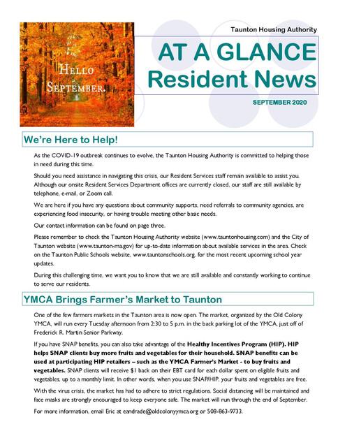 THA September 2020 Newsletter - single p
