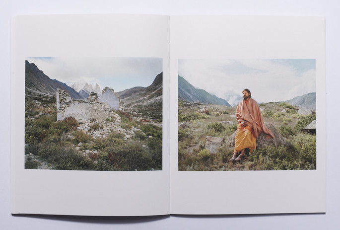 Spread from 'Seeking Moksha' by Nishant Shukla