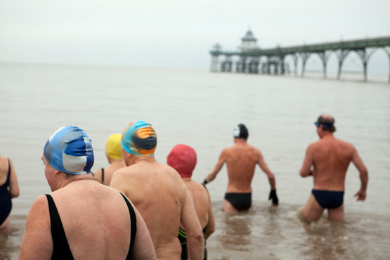Swimming in the Severn Estuary, Clevedon
