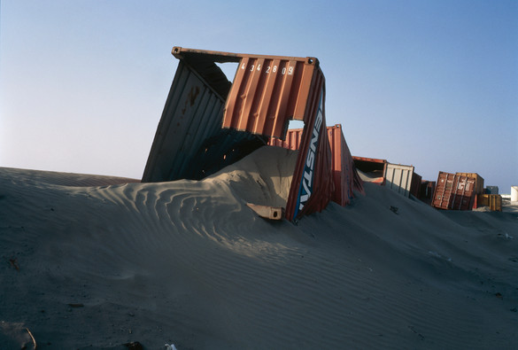 Allan Sekula, 'Containers used to contain shifting sand dunes.'