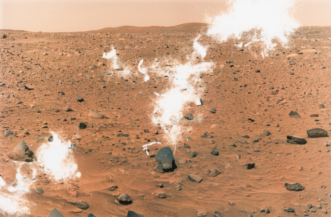 Eva Stenram, Per Pulverem Ad Astra, 2007. Courtesy the artist. Source imagery courtesy of NASA/JPL- Caltech.