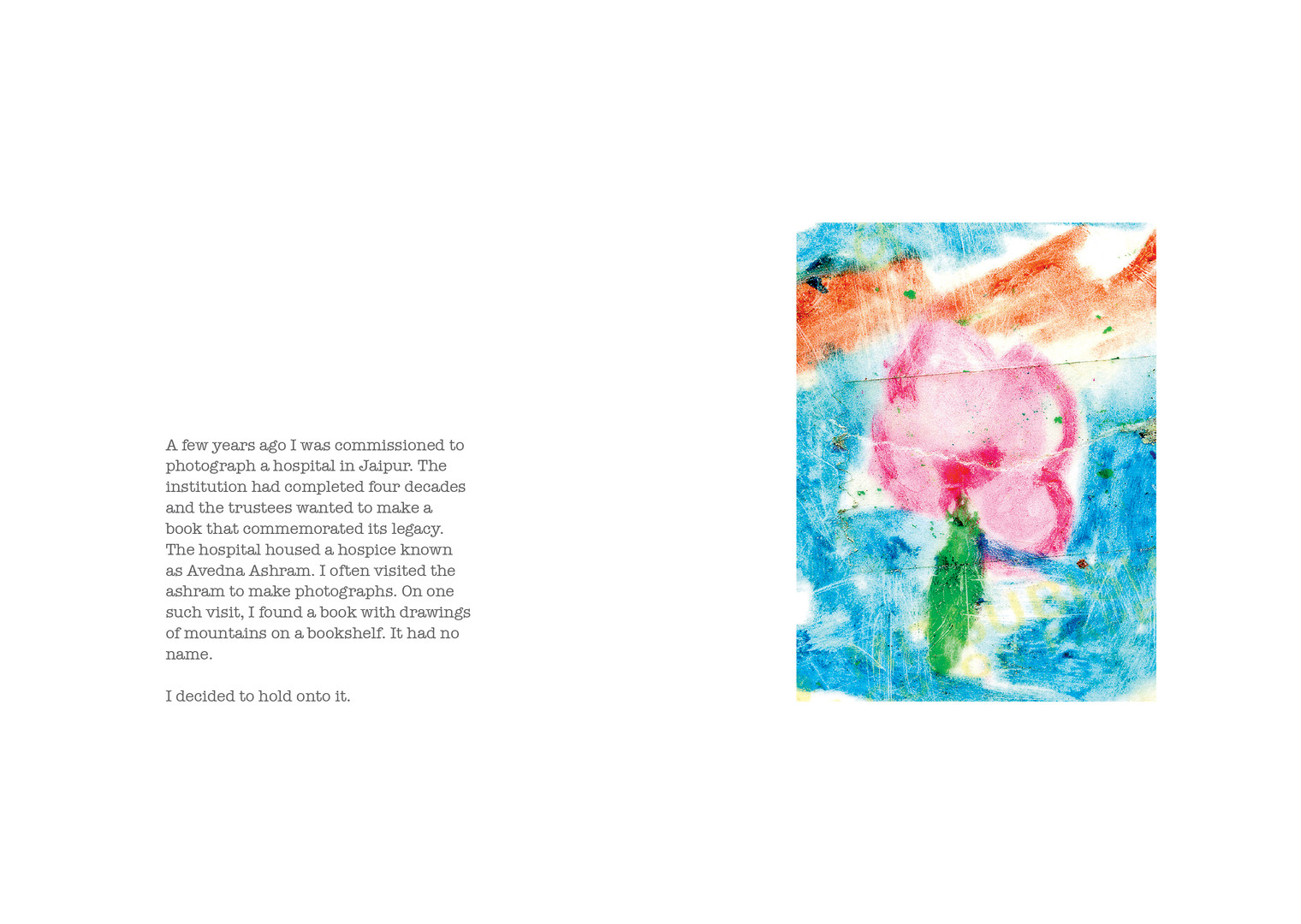 Spread from 'This World of Dew' by Chandan Gomes