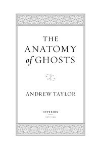 The Anatomy of Ghosts —title page