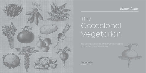 The Occasional Vegetarian book design by Karen Minster
