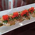 Albacore tataki with basil ponzu sauce