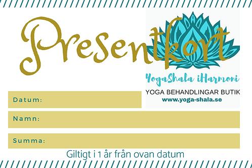 Presentkort på en massage