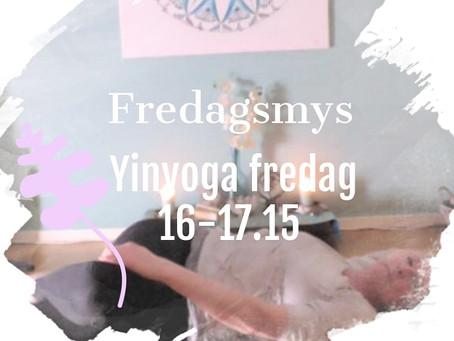 Avsluta veckan med skön Yinyoga 16.00-17.15