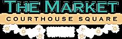 The Market logo, gold bar, white embelli