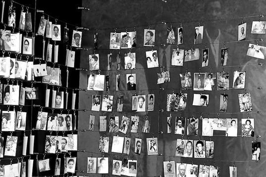 Photo's inside the Genocide Memorial - Kigali