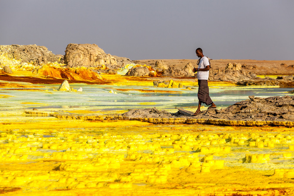 Colourful Volcano Dallol in Danakil