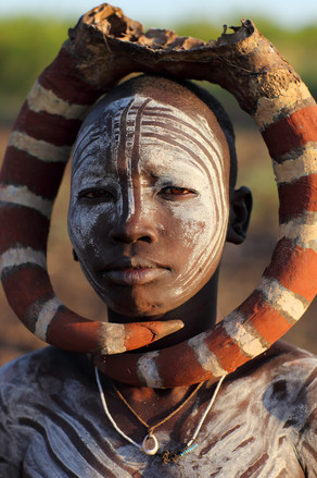 Mursi Woman in Omo Valley