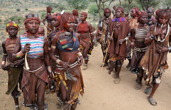 Hamer women in Lower Omo Valley