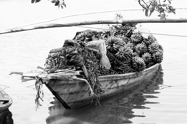 Banana Boat in Lake Kivu