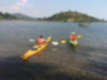 Going out on the lake - Lake Kivu