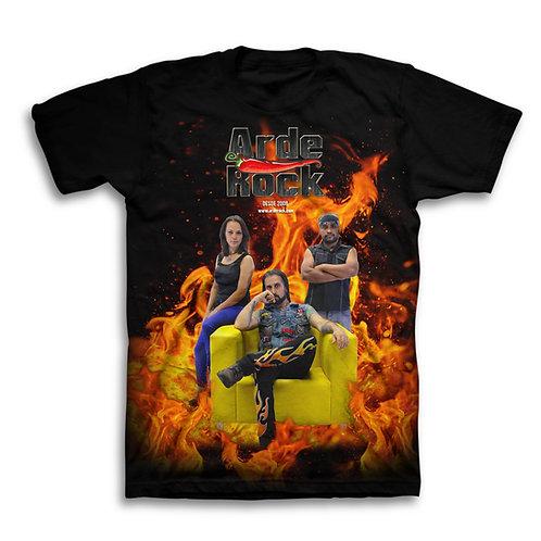 camiseta COMEMORATIVA 10 anos de ARDE ROCK