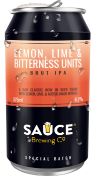 SAUCE BREWING LEMON, LIME & BITTERNESS UNITS BRUT IPA 4 PACK