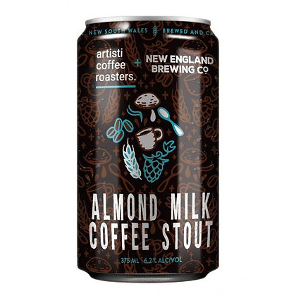 NEW ENGLAND ALMOND MILK COFFEE STOUT 6 PACK