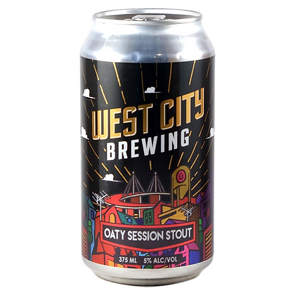 WEST CITY BREWING OATY SESSION STOUT 6 PACK