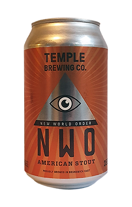 TEMPLE BREWING NEW WORLD ORDER STOUT 4 PACK