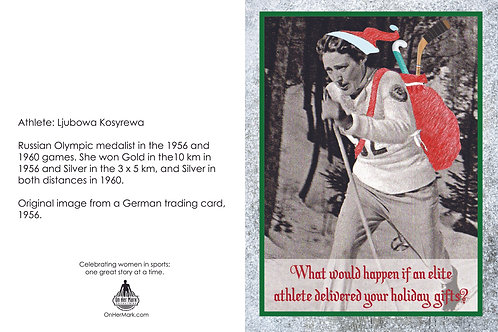 Holiday card - cross country skier