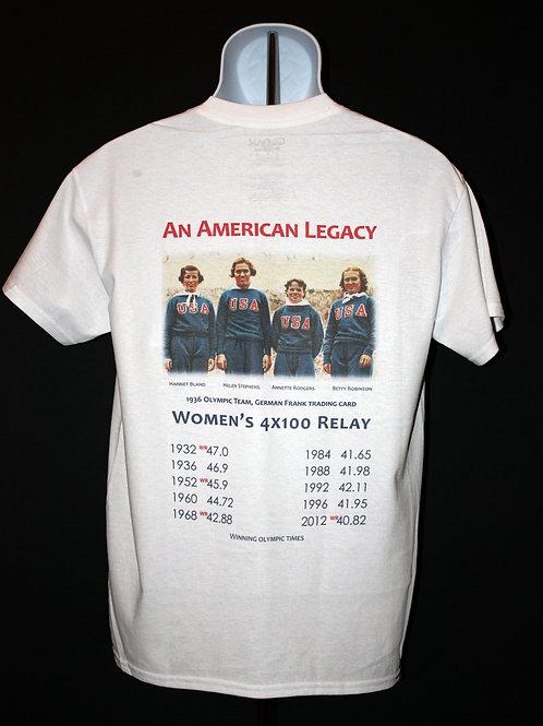 """American Legacy"" 4 x 100 Olympic Relay T-shirt"
