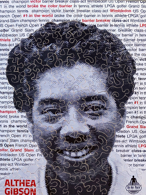 Althea Gibson hand cut puzzle