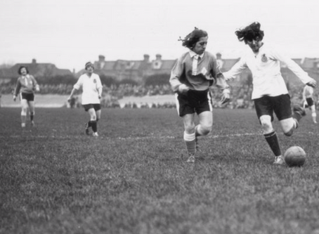 Women's soccer - How the 1917 Dick, Kerr Ladies soccer team started by challenging the men.
