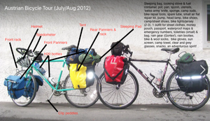 touring bicycles and equipment