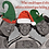 Thumbnail: Holiday card - Olympic downhill skiers