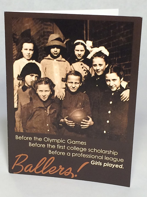 "Greeting card - ""Ballers"" (girls basketball) set of 6 cards"